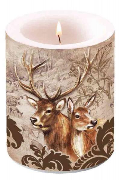 Kerze Hirsche