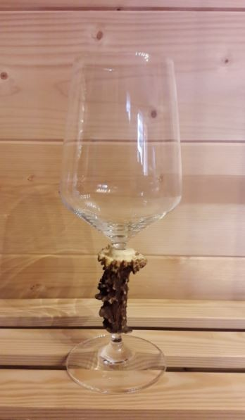 Weinglas Rehrose