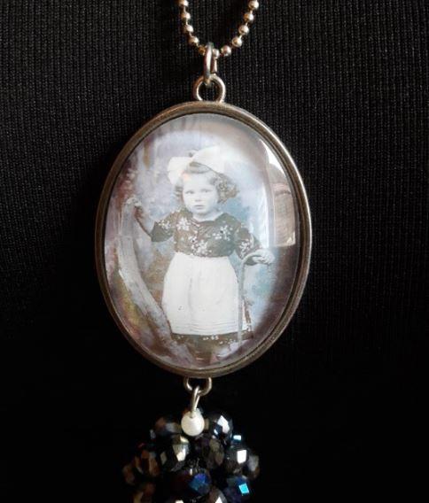Halskette Vintage Mädchen