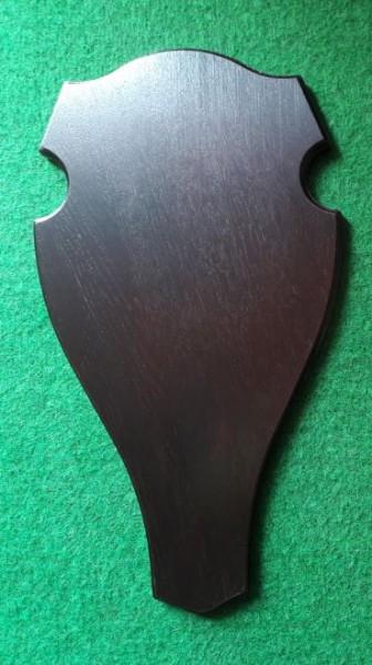 Trophäenschild für Hirsch Eiche dunkel rund