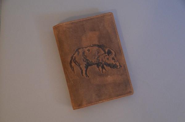 Jagdscheinetui Wildschwein
