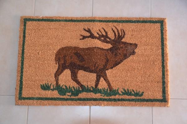 Fußmatte röhrender Hirsch
