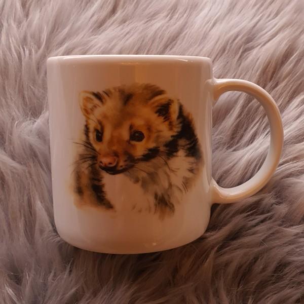 Tasse mit Marderaufdruck