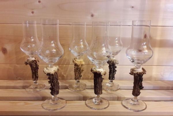 Obstler- oder Grappaglas 6er-Set