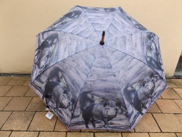 Regenschirm mit Wildschweinmotiv